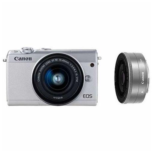 キヤノン EOSM100-WLKWH ミラーレス一眼カメラ 「EOS M100」ダブルレンズキット(ホワイト)