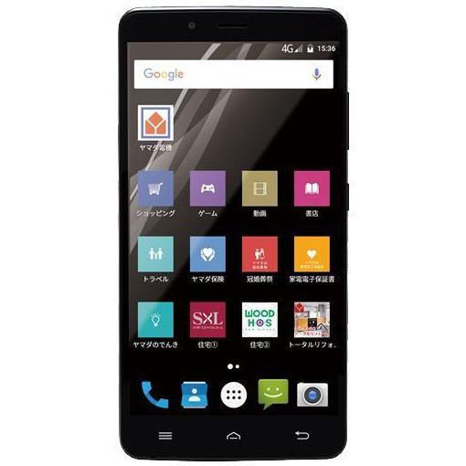 ヤマダ電機オリジナルモデル EP-171AC/B Android搭載SIMフリースマートフォン EveryPhone AC ブラック