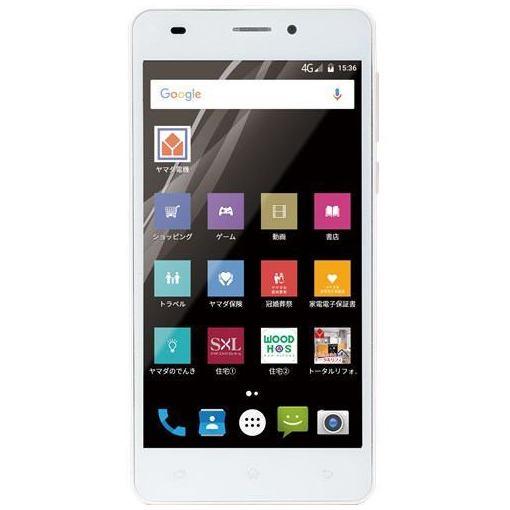 ヤマダ電機オリジナルモデル EP-171EN/G Android搭載SIMフリースマートフォン EveryPhone EN ゴールド