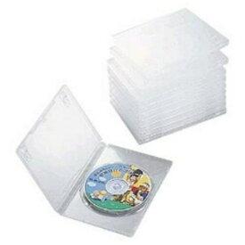 ケース エレコム CD DVD CCD-DVD03CR DVDトールケース(1枚組収納×10枚セット・クリア)