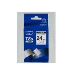 ブラザー TZe-251 ラベルライターピータッチ用 ラミネートテープ 白テープ 黒文字 幅24mm 長さ8m