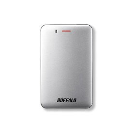 【ポイント10倍!2月22日(土)00:00〜】バッファロー SSD-PM120U3A-S 耐振動・耐衝撃 省電力設計 USB3.1(Gen1)対応 小型ポータブルSSD 120GB シルバー