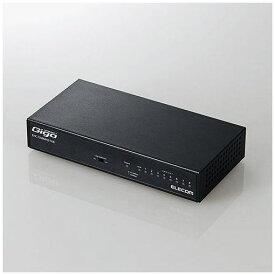 エレコム EHC-G08MN2-HJB 1000BASE-T対応 スイッチングハブ 8ポート メタル(ブラック)