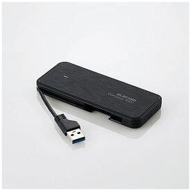 エレコム ESD-EC0120GBK ケーブル収納型外付けポータブルSSD 120GB ブラック