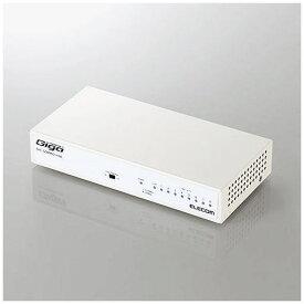 エレコム EHC-G08MN2-HJW 1000BASE-T対応 スイッチングハブ 8ポート メタル(ホワイト)