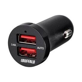 バッファロー BSMPS3402P2BK シガーソケット用USB急速充電器 AUTO POWER SELECT機能搭載 2ポートタイプ