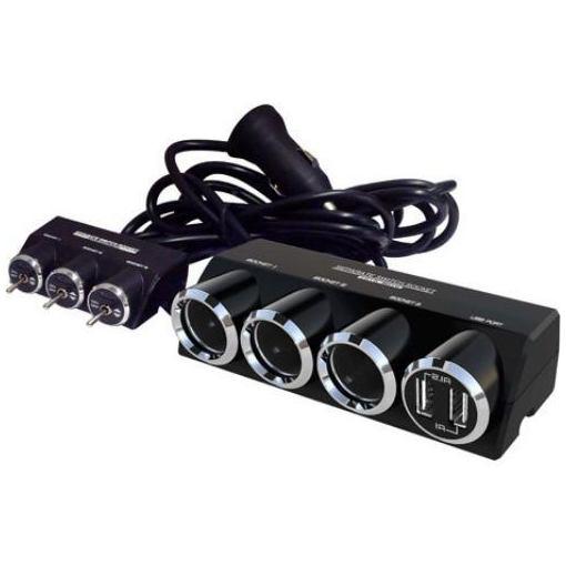 カシムラ KX-192 3連セパレートスイッチソケット USB2口