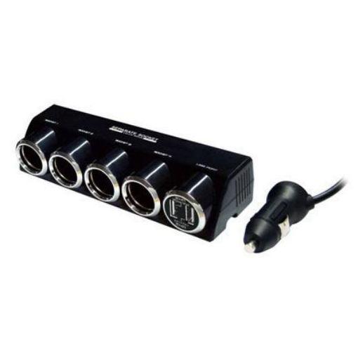 カシムラ KX-187 4連セパレートソケット USB2ポート 4.8A