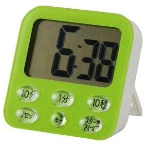 オーム電機 COK-T140-G 時計付デジタルタイマー グリーン