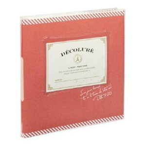 ナカバヤシ アK-MB-201-R かけるーの台紙アルバム デコルーレ ブックタイプ スクエアM レッド