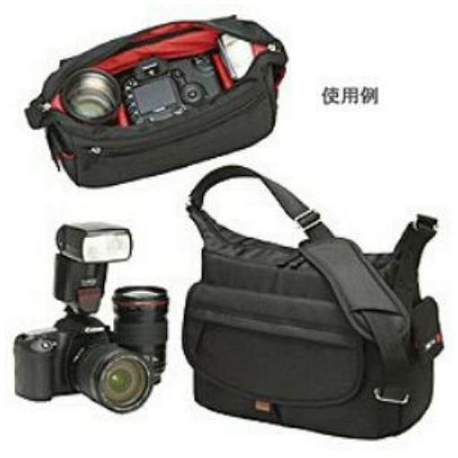 エツミ E-3322 小型ショルダーカメラバッグ シュプリーム ブラック