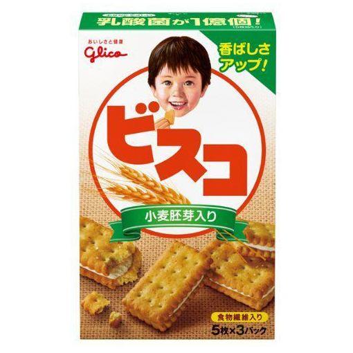 江崎グリコ ビスコ 小麦胚芽入り 15枚