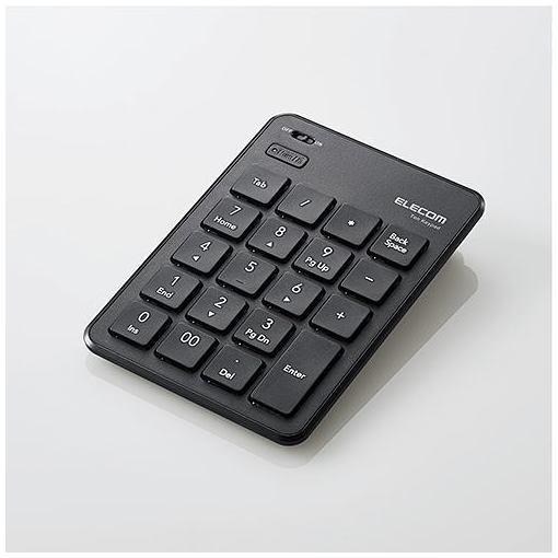 【ポイント5倍!3月23日(土)00:00〜3月26日(火)01:59】エレコム TK-TBP020BK Bluetooth薄型テンキーパッド ブラック