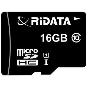 RiDATA WRI-MSH016GC10U1 microSDカード 16GB ブラック