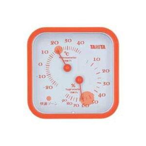 タニタ TT-557-OR 温湿度計(オレンジ)