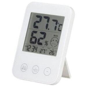 ヤザワ DO02WH 熱中症・インフルエンザ警報付き デジタル温湿度計 ホワイト