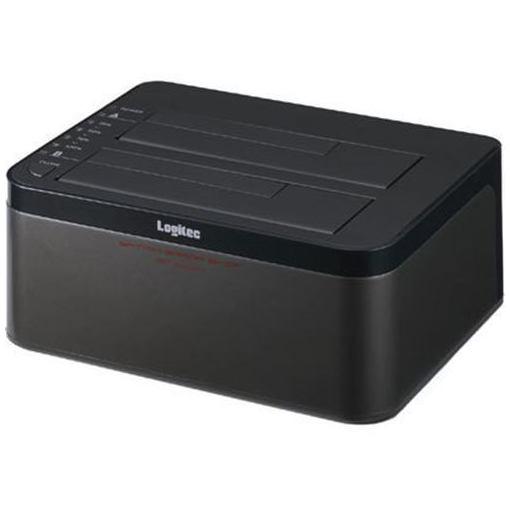 【ポイント10倍!5月25日(土)0:00〜5月28日(火)9:59まで】ロジテック LGB-2BDPU3ES エラースキップ搭載 2BAY Duplicator HDD/SSDスタンド