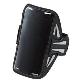 ELECOM PABC02BK スマートフォン用スポーツアームバンド(Lサイズ)