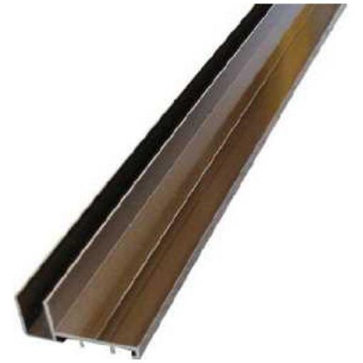 アルインコ 波板用母屋枠見切付 2.4M ブロンズ