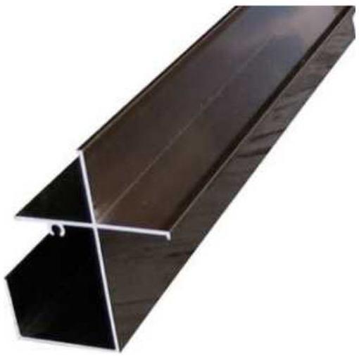 アルインコ 波板用前枠 2.4M ブロンズ