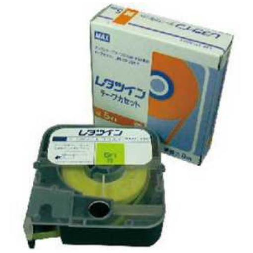 MAX チューブマーカー レタツイン テープカセット5mm幅 黄