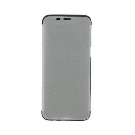 LEPLUS(ルプラス) LP-GS8BTSV Galaxy S8 SC-02J/SCV36 透明フラップケース「TOUCH FLAP」 シルバー