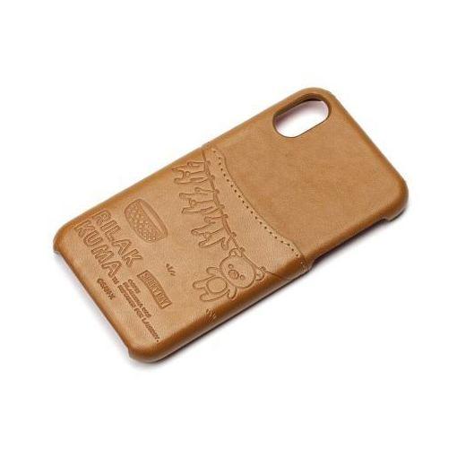 【ポイント5倍!12/11(火)午前1:59まで】PGA(ピージーエー) YY02005 iPhoneX用ハードケースポケット付き リラックマ/ガジュアル