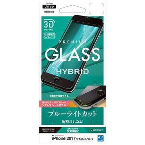 RASTA BANANA(ラスタバナナ) SK856IP7SAB iPhone8/7/6s/6 フィルム 曲面保護 強化ガラス 覗き見防止 3Dソフトフレーム 角割れしない ブラック