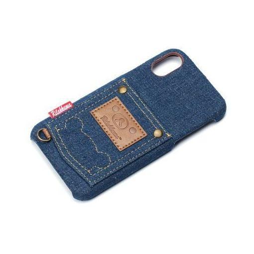 【ポイント5倍!12/11(火)午前1:59まで】PGA(ピージーエー) YY02006 iPhoneX用ハードケースポケット付き リラックマ/デニム