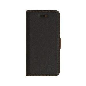 RASTA BANANA(ラスタバナナ) 3345IP8A iPhone X ケースカバー 手帳型 +COLOR 薄型 サイドマグネット BK×DBR