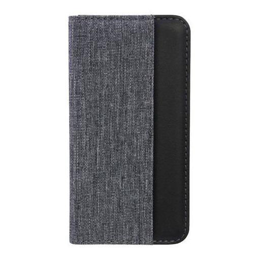 Owltech(オウルテック) OWL-CVIP809-GYBK iPhoneX専用 THE 手帳型ケース グレー × ブラック