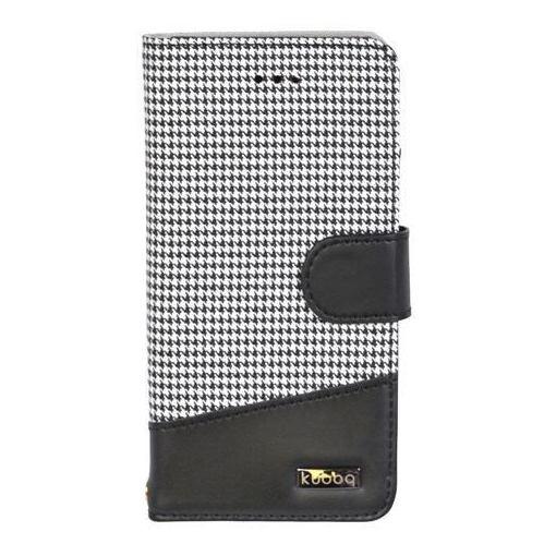 Owltech(オウルテック) OWL-CVIP806-CBK iPhoneX専用 kuboq 手帳型ケース ブラック × 千鳥格子