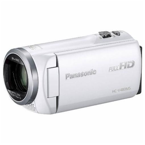 【ポイント2倍!11/20(火)0:00〜23:59まで】パナソニック HC-V480MS-W デジタルハイビジョンビデオカメラ ホワイト