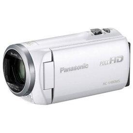 パナソニック HC-V480MS-W デジタルハイビジョンビデオカメラ ホワイト
