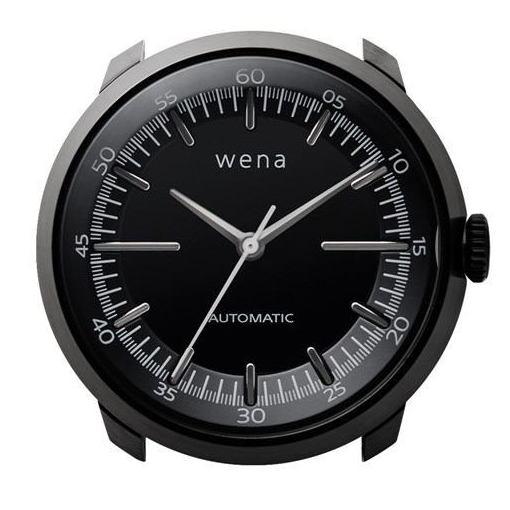 ソニー WH-TM01/B ハイブリッドスマートウォッチ wena wrist Mechanica Head Black (ウェナリスト メカニカルヘッド 機械式 ブラック)