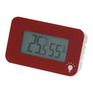 エンペックス TD-8338 温度・湿度計 シュクレ・イルミー レッド