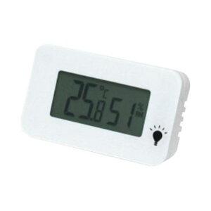 エンペックス TD-8331 温度・湿度計 シュクレ・イルミー ホワイト