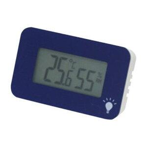 エンペックス TD-8336 温度・湿度計 シュクレ・イルミー ネイビーブルー