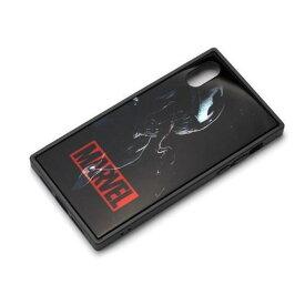 PGA PG-DCS617VEN iPhone XS/X用 ガラスハイブリッドケース ヴェノム Premium Style