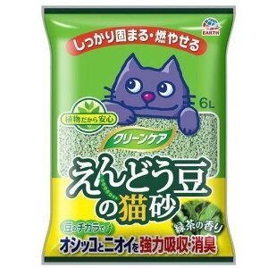 シーズイシハラ アースペット クリーンケア えんどう豆の猫砂 緑茶の香り (6L)