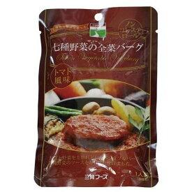 三育 七種野菜の全菜バーグ110g 植物タンパク(レトルト)