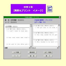 パル教育システム 英語プリント作成システム中2