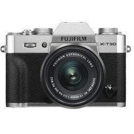 【ポイント2倍!2月18日(火)00:00〜23:59まで】富士フイルム FUJIFILM X-T30 XC15-45mm ミラーレス一眼カメラ レンズキット シルバー