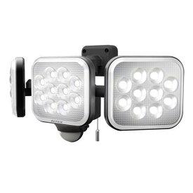 【ポイント10倍!4月1日(水)00:00〜23:59まで】RITEX LEDAC3036 12W×3灯フリーアーム式LEDセンサーライト 黒