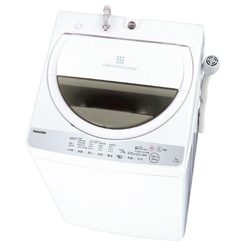 【ポイント10倍!5月25日(土)0:00〜5月28日(火)9:59まで】東芝 AW-7G6-W 全自動洗濯機 (洗濯7.0kg)グランホワイト
