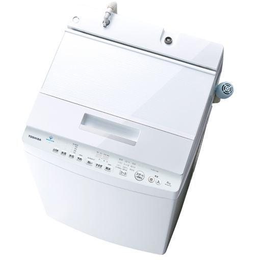 【ポイント10倍!5月25日(土)0:00〜5月28日(火)9:59まで】東芝 AW-8D7(W) 全自動洗濯機 (8.0kg) 「ZABOON(ザブーン)」 グランホワイト