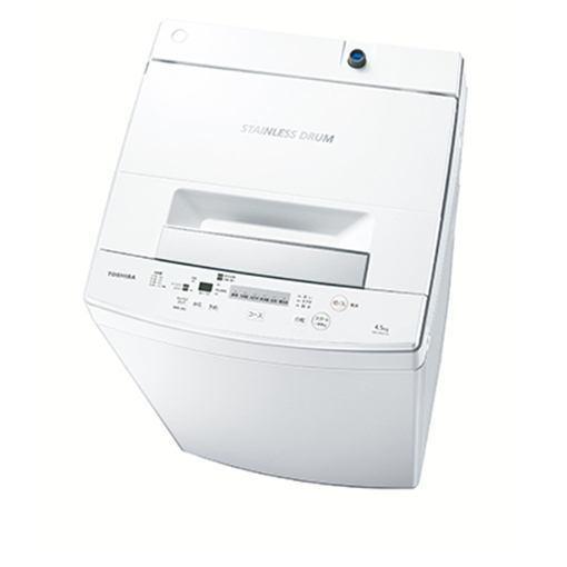 【ポイント10倍!5月25日(土)0:00〜5月28日(火)9:59まで】東芝 AW-45M7-W 全自動洗濯機 (洗濯4.5kg) ピュアホワイト