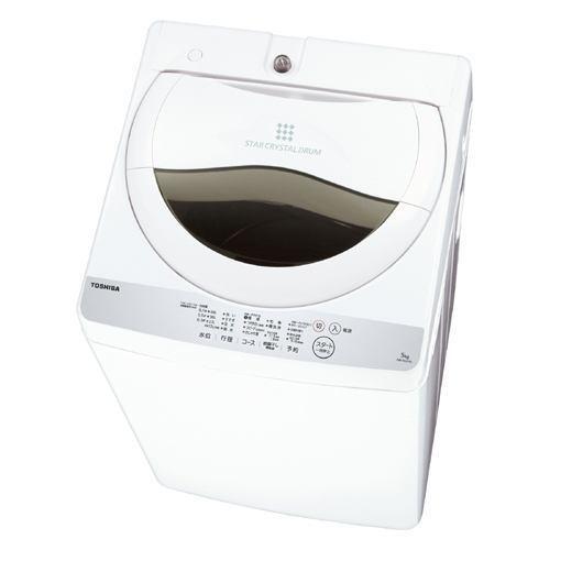 【ポイント10倍!5月25日(土)0:00〜5月28日(火)9:59まで】東芝 AW-5G6-W 全自動洗濯機 (洗濯5.0kg)グランホワイト
