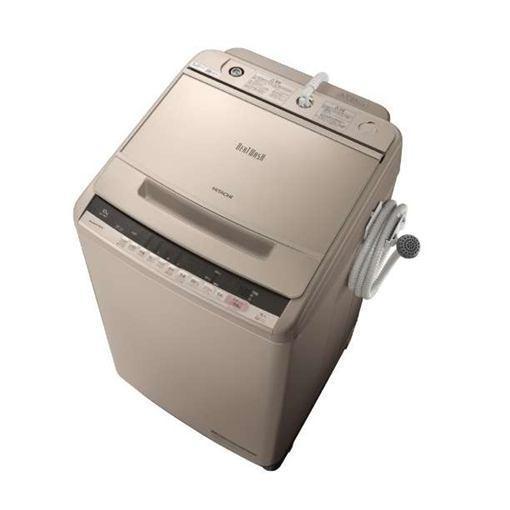 【ポイント10倍!5月25日(土)0:00〜5月28日(火)9:59まで】【無料長期保証】日立 BW-V100C-N ビートウォッシュ 全自動洗濯機 (洗濯10.0kg) シャンパン