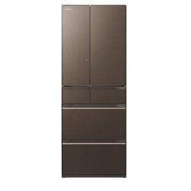 【無料長期保証】日立 R-HW60K-XH 6ドア冷蔵庫(602L・フレンチドア) グレイッシュブラウン